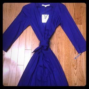 DVF Julian Two Mini Wrap Dress